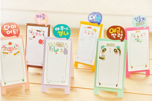 Creative stationery paste Note Pads/freshness memo pad/business gift/home funny message holder shipping free(China (Mainland))