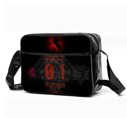 EVA Neon Genesis Evangelion Shoulder Bag Satchel Cartoon Messenger Crossbody Bags for Teenagers Students Schoolbag PU