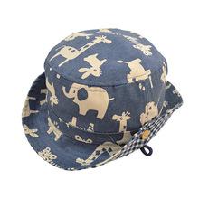 baby boys hat 1pcs Retail and wholesale children bucket hat Cute Cartoon Summer Cotton Fisherman Hats Kid Boy/Girl Beach Hat  (China (Mainland))