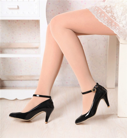 Mid Heel Ankle Strap Shoes
