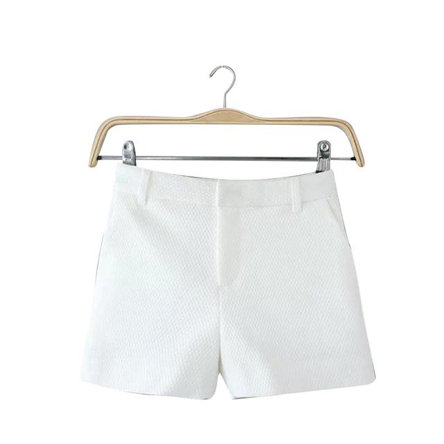 RG23 Мода Женская элегантный карман на молнии белые шорты рабочая одежда дамы офис ...