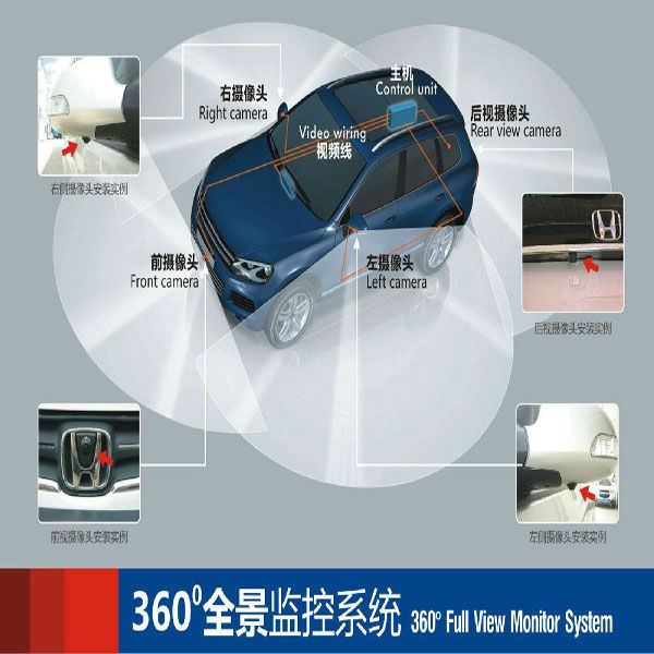 High Tech Factory Price Universal 360 Degree All Round View Car around view camera system with car driving monitor