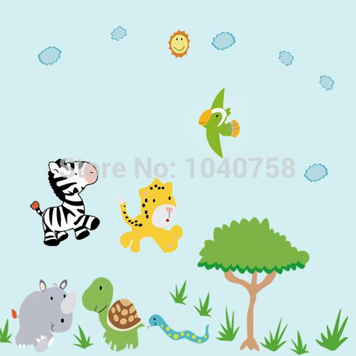 Buy cartoon owl baby wall stickers tree - Stickers girafe chambre bebe ...