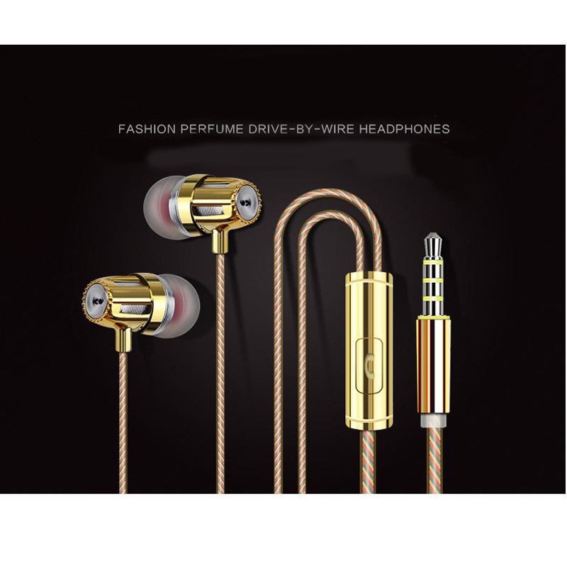 Fashion perfume In-Ear Earphones 3.5mm port 130 cm wired earphone for androd IOS(China (Mainland))