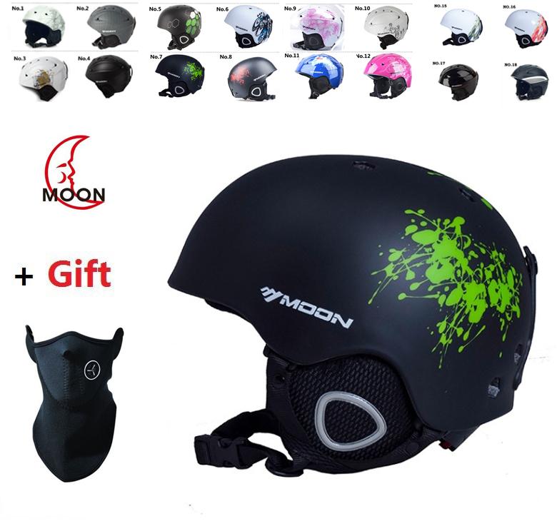 Moon Brand Authentic Adjustable Professional Ski Helmet  Racing Ultralight ladies helmet  high quality  for women and  men(China (Mainland))