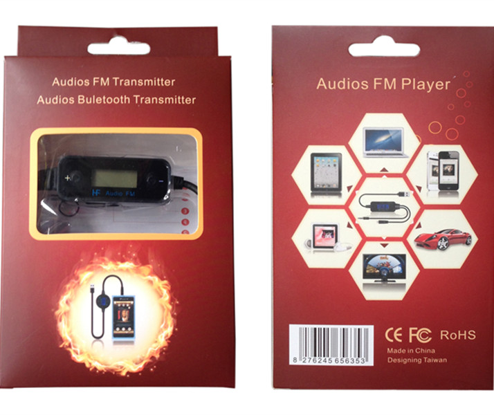 Professional Fm Radio Transmitter Mp3 Player LCD display Micor USB Audio Headphones for Iphone 5 android(China (Mainland))