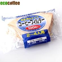 2014 100Pcs lot Prefolded V02 Hand Drip Paper Coffee Filter Espresso Coffee Filters