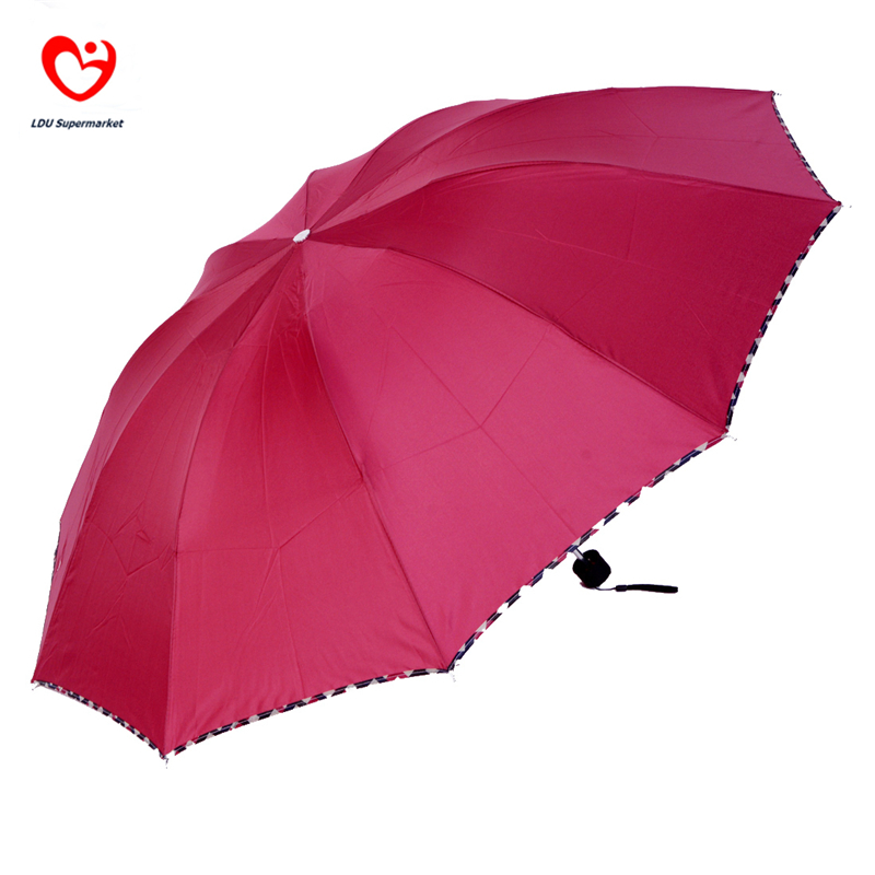 2014 Hotsale!Japanese Branded Rose Oil Painting Automatic 3 Folding Wind Resistant And Sun Protection Ladies Fashion Umbrella!