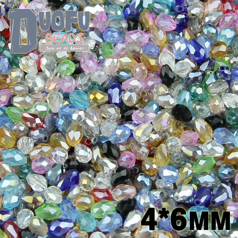 NEW Top quality 4*6mm 100pcs AAA Water droplet pear shaped Austrian crystals loose beads ball supply bracelet Jewelry Making DIY(China (Mainland))