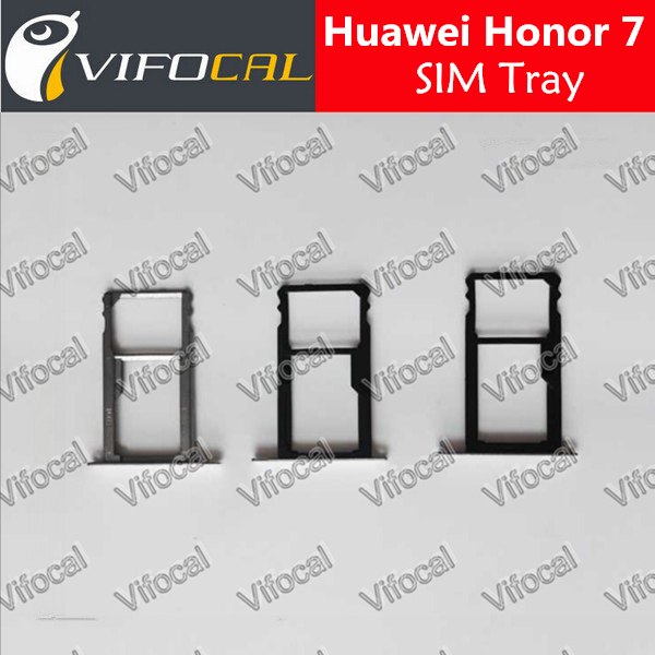 Huawei Honor 7 Sim Tray Stand 100% Original SIM Card Holder Adapter For phone Repair Replacement Accessories + Free Shipping(China (Mainland))