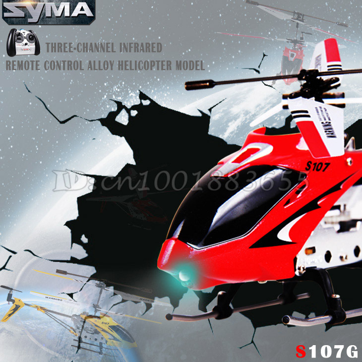 Free Shipping Wholesale Syma S107G S107 RC Helicopter With Gyroscope &