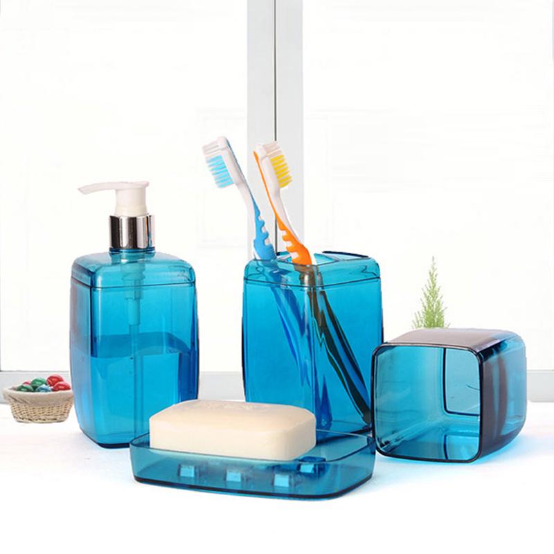 European Bathroom Family Of Four Colorful Stylish Upscale