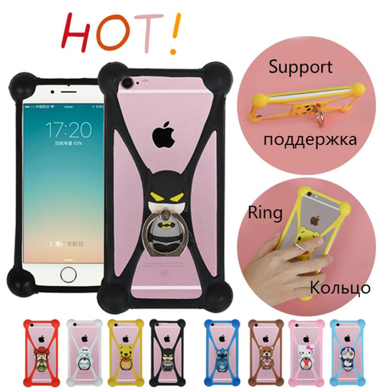 Phone Cases For LG V10 VS990 V10 Verizon Wireless Cartoon Ring Stand Holder Soft Silicone Case Cell Phone 3.8 - 6.5 Inch Cover(China (Mainland))