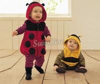 Cartoon Baby Fleece LADYBIRD BEE Cosplay Costume Fancy Dress Romper 3-24m 51