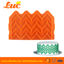 baking tool Chevron fondant mold food silicone flower border lace mould cake mat gum paste(China (Mainland))