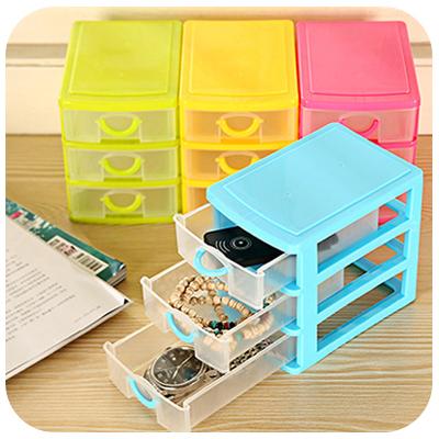Free Shipping mini drawer storage box cosmetics receive office desktop sundry organizer jewelry small object classified box case(China (Mainland))