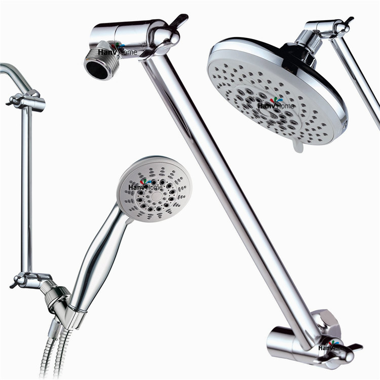 e-pak New 9 Inch Adjustable Height Shower Head Arm by Bathlogix Shower Arm extension(China (Mainland))
