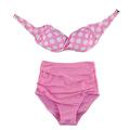 Brazilian Swimsuit Women Swimwear Bandeau Push Up High Waist Bikini Set Polka Dot Bathing Suits Plus