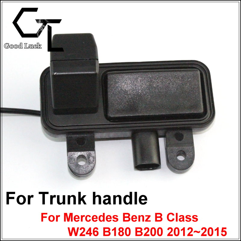 For Mercedes Benz B Class W246 B180 B200 2012 ~ 2015 Trunk Handle OEM wireless Backup Rear View Reversing HD CCD Car Camera(China (Mainland))