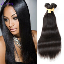 Brazilian Virgin Hair Straight 3pcs 100% Unprocessed Human Hair Ms lula Hair Products Brazilian Straight Hair Weave 100g Bundles(China (Mainland))
