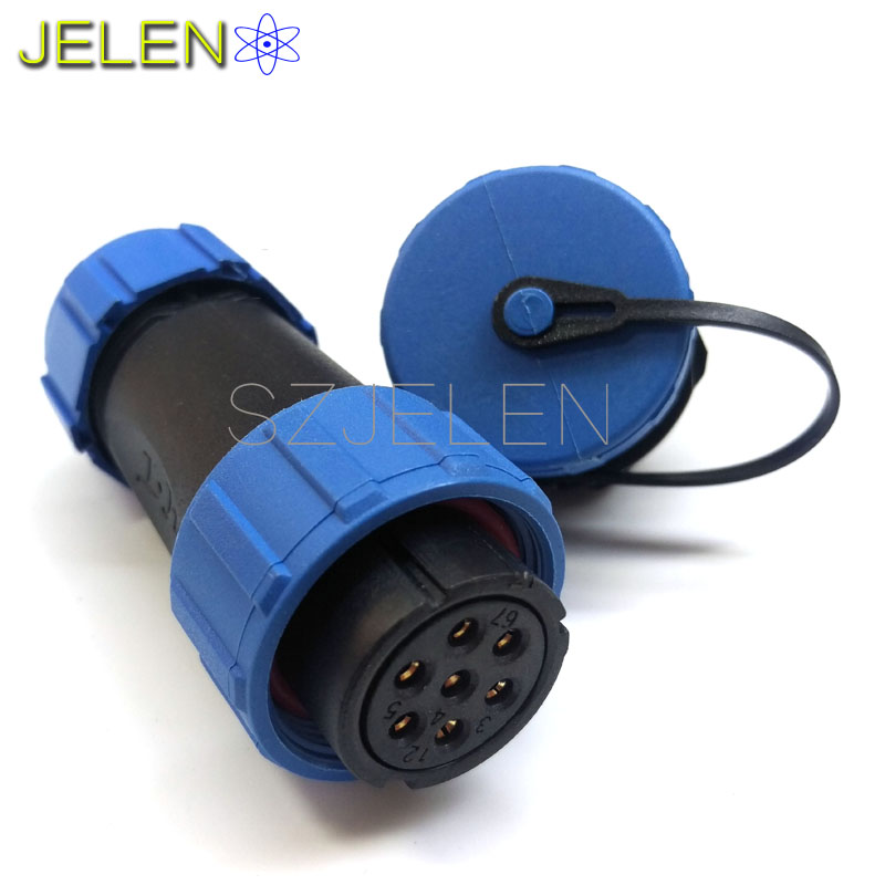 SP2110, 7 pin connector waterproof ,cable waterproof connector,automotive electrical wire connectors, 7 pin power connector IP68(China (Mainland))