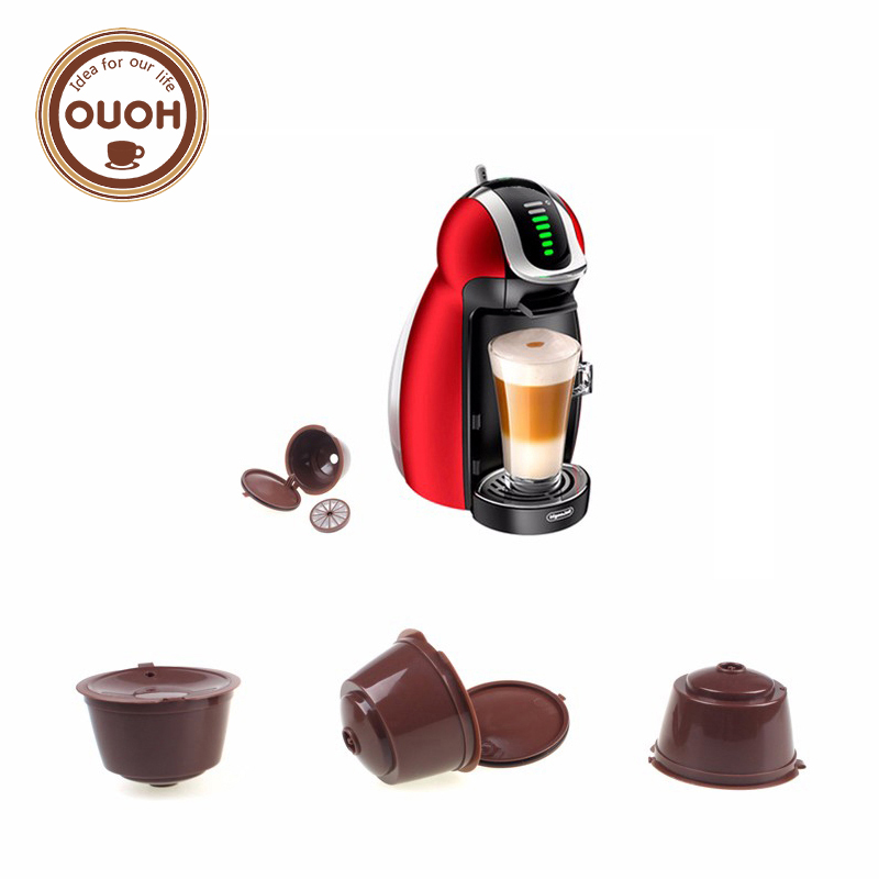 3pcs/pack use 150 times Refillable Dolce Gusto coffee Capsule nescafe dolce gusto reusable capsule dolce gusto capsules(China (Mainland))