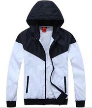2014 Thin Autumn Outdoor NK Man Sportwear Hoodie Men Brand Jacket Men Windbreaker Zipper Coats Men Plus Size #080012(China (Mainland))
