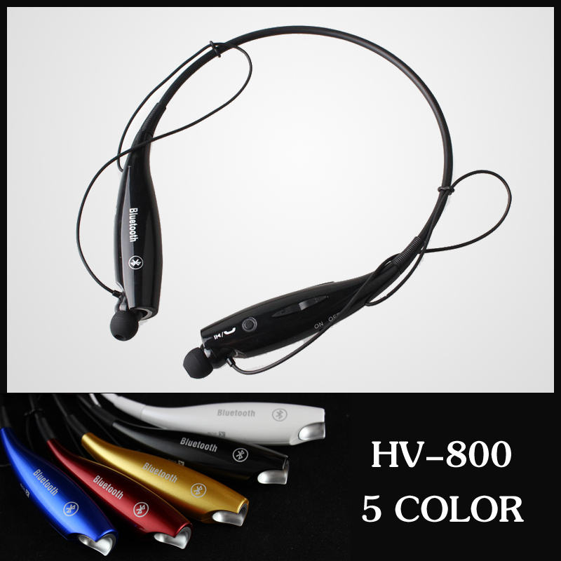 Free shipping HV-800 Fashion Wireless Bluetooth earphone HandFree Sport Stereo Headset headphone for Samsung iPhone LG(China (Mainland))