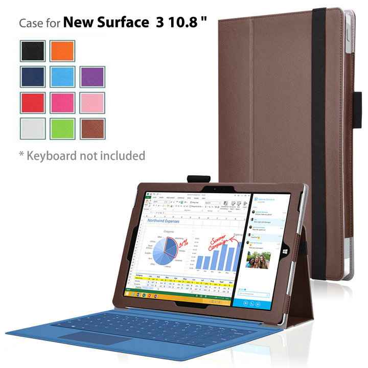 Tablets cover Case funda for Microsoft 2015 New Surface 3 10.8 Fold Casse PU Leather Skin MagSmart Flip Case Cover 50pcs<br><br>Aliexpress