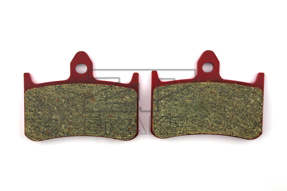 Motorcycle parts Brake Pads Fit HONDA CB 400 F2V/F3T Superfour 1996-1997 Front OEM Red Ceramic Composite Free shipping(China (Mainland))