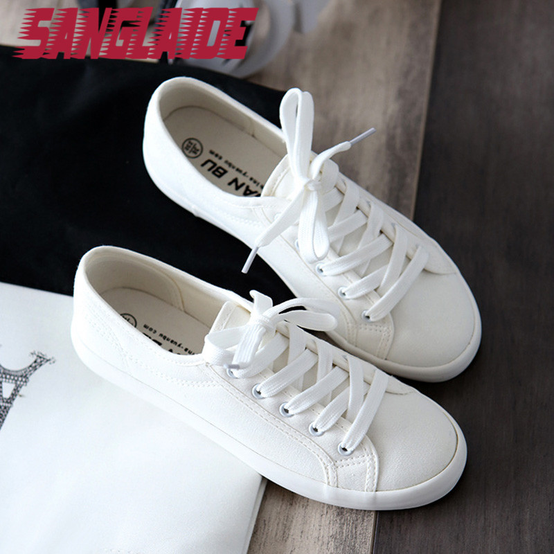 2016 new autumn summer canvas white color casual shoes