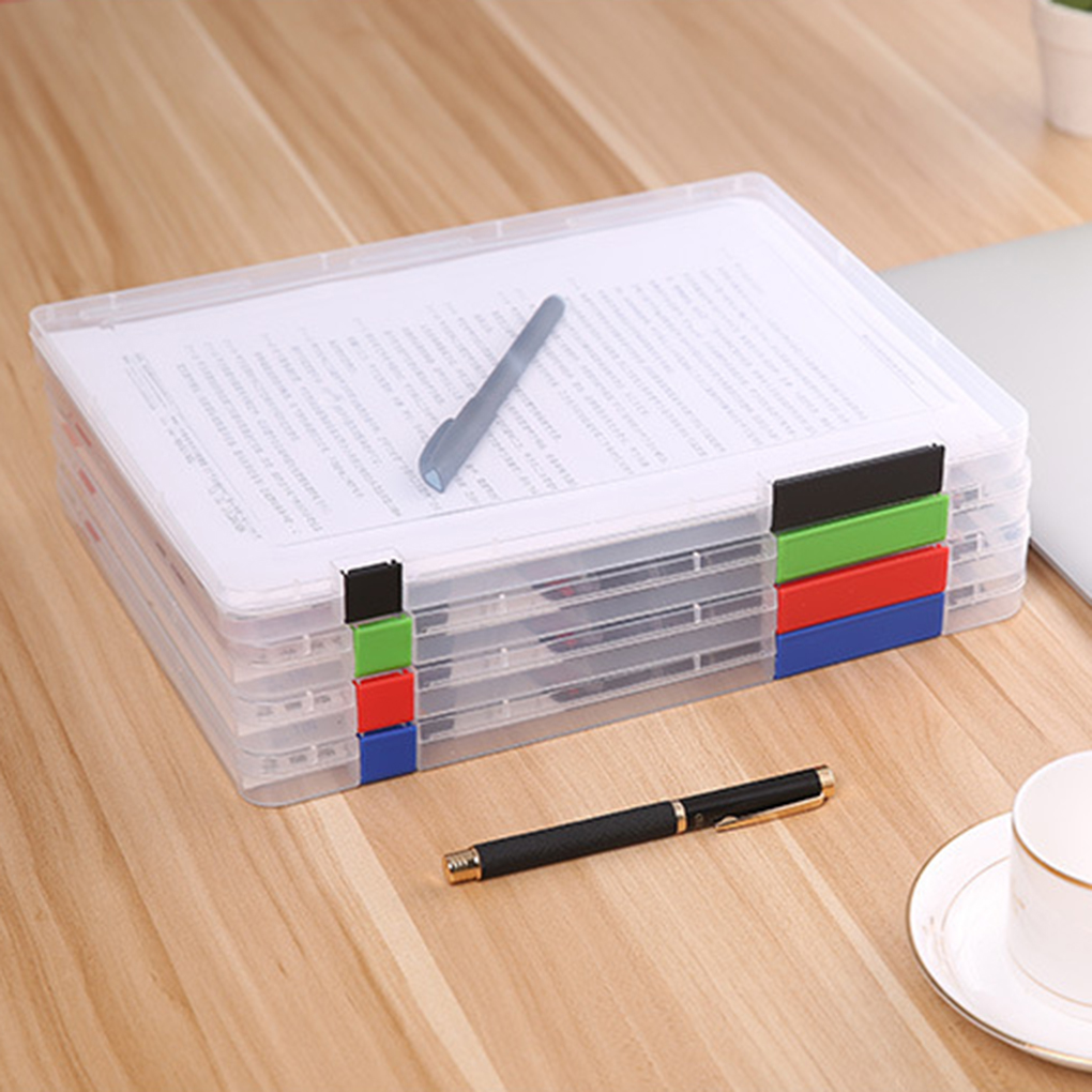 Newest!A4 File Storage Box Clear Plastic Document Cases Desk Paper Organizers(China (Mainland))