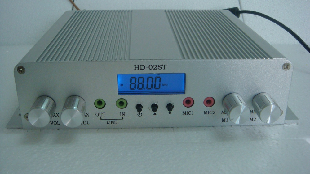 HD-02STA 15W LCD digital stereo high-power FM transmitter with GP antenna kit(China (Mainland))