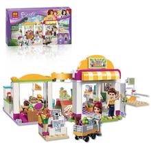 New 313Pcs01001 10494 Friends Heartlake Supermarket Minifigures Building Blocks Set Model Bricks Girl Toy Compatible Legoe 41118