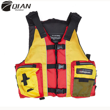 QIAN OUTDOOR Adults Children outdoor professional lifejacket fishing vest portable rafting snorkeling buoyancy vest protective(China (Mainland))