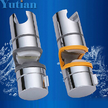 Free Shipping New ABS Chrome Shower Head Holder Adjustable Rail Bracket Slider YT-5151(China (Mainland))