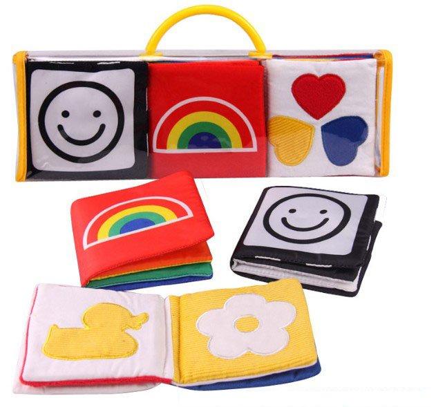 2015 Black Red Soft Mamas Papas New Baby Toy Cute Handmade Cloth Fabric Book Toys Livro De Pano - SEAEBUY store