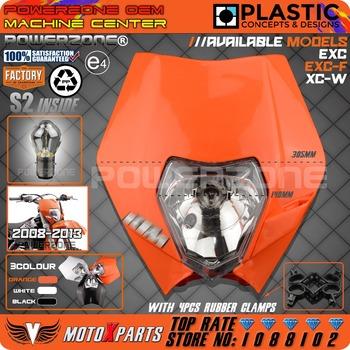 Motorcycle Dirt Bike Motocross Supermoto Enduro Universal Headlight Headlamp For KTM SX EXC XCW XCF SXF SMR Fairing