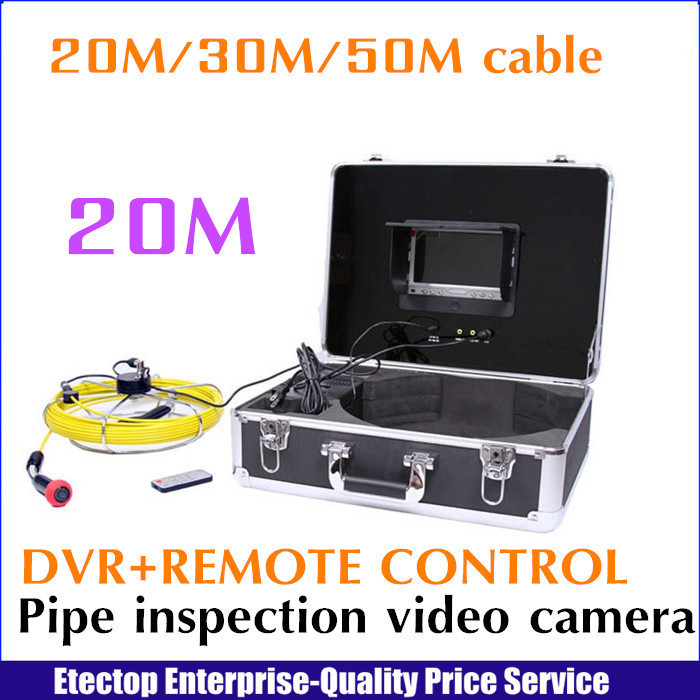 20m cable+DVR endoscope borescope underwater pipe drain sewer video inspection camera system,remote control,(China (Mainland))