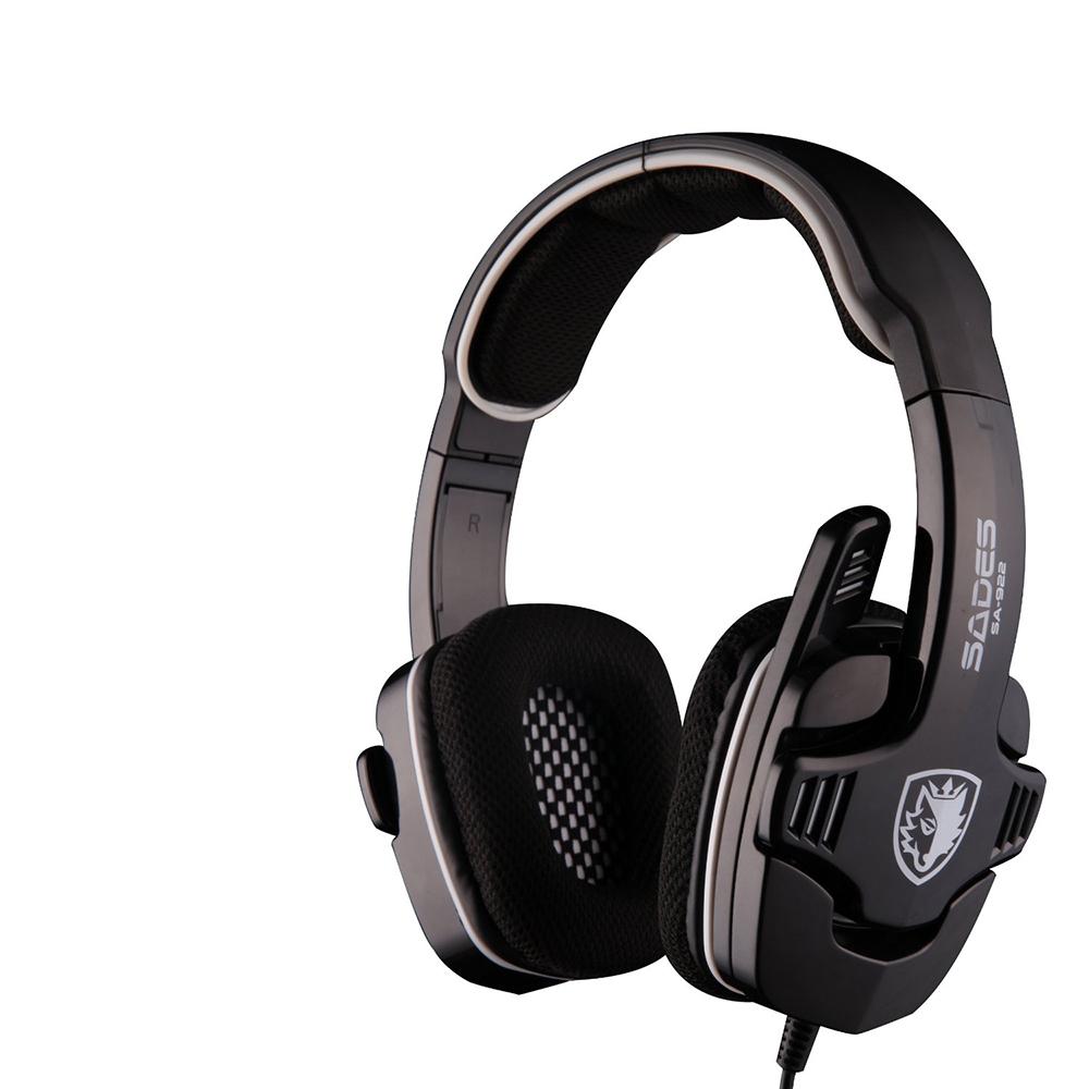 In stock!Sades SA-922 New Sades Stereo Headset Headband Console Headset for PC,PS3,XBOX(China (Mainland))
