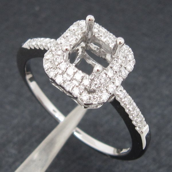 4.5mm Princess Real 14k Gold Natural Diamond Engagement Semi Mount Ring, Hot Sale!!<br><br>Aliexpress