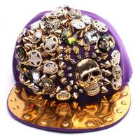 2015 New Fashion Punk Hip Hop Spikes hat Rivets Studded Button Skull Adjustable Cap men snapback Hats gorras hombre planas