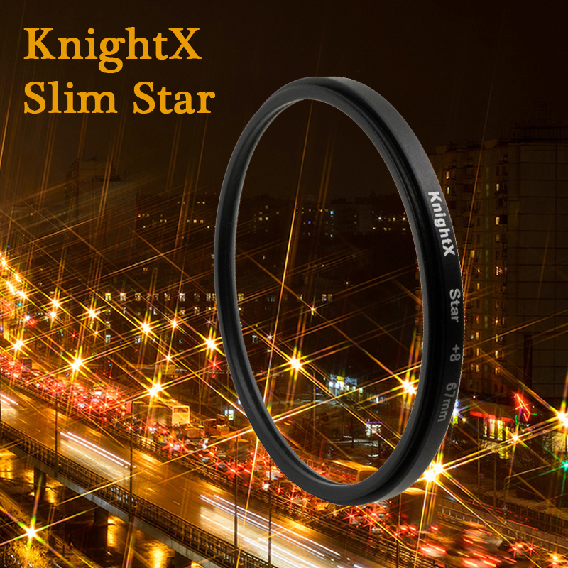 KnightX Star Filter 52MM 58MM 67MM 4 6 8 Point Line for Canon Nikon d3200 d5200 1200d 600d 100d t5i d5500750d t5 a57 lens DSLR(China (Mainland))