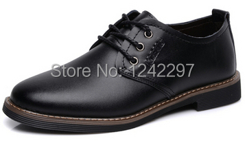 NEW 2014 Mens Genuine leather Lac-up Flats Fashion Cowhide breathable Business Casual shoes Dress shoe Sneakers 008 <br><br>Aliexpress