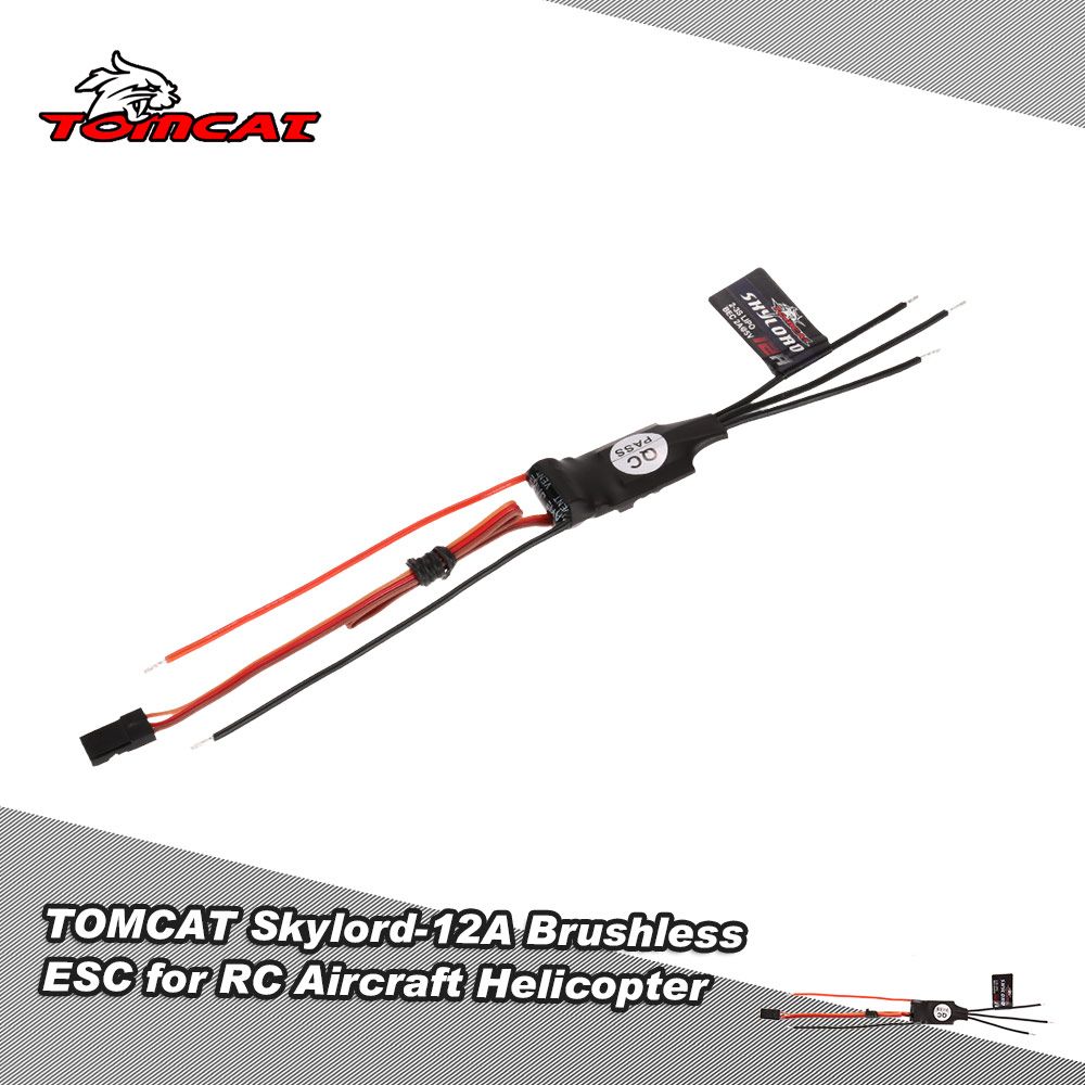 Original TOMCAT Skylord-12A 2-3S Li-Po Brushless ESC with 2A/5V BEC for RC Aircraft Helicopter(China (Mainland))