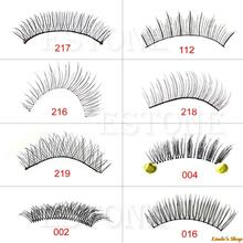 10 Pairs Fashion Makeup Tool Handmade Natural Long False Eyelashes Eye Lashes
