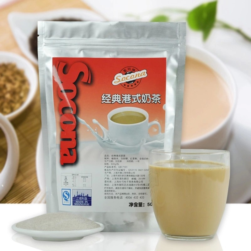 ShineTea Socona Classic Hong Kong Style bubble tea 500g flavor Premium pearl milk tea powder instant stockings Tea infuser BU001