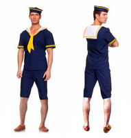 FREE SHIPPING New Men's Sailor Captain Uniform Halloween Fancy Dress Cosplay Costumes Full Set