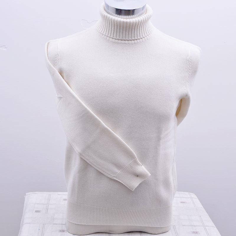 100% goat cashmere men solid color sweater turtleneck ...