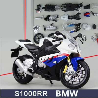 1pcs Motorbike Assembly S1000 RR Tomahawk Motorcycle Road Racing DIY Toys Classical 1:12 Model Metal Boys Model Gift Maisto(China (Mainland))